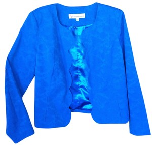 G by Giuliana Scalloped Fully Lined Cobalt Blazer