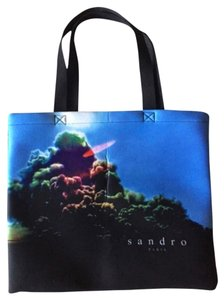 Sandro Neoprene Tote in Print and black