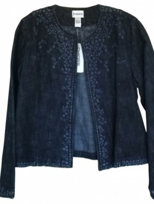 Chico's dark navy/black Womens Jean Jacket