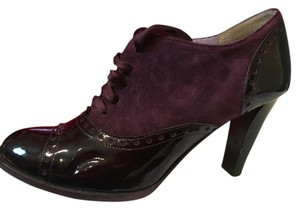 Coach Suede Patent Leather Purple Boots
