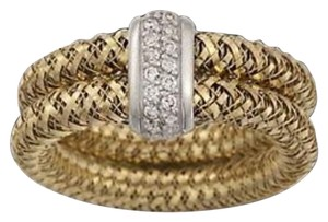 Roberto Coin BRAND NEW ROBERTO COIN 18K Gold Diamonds Primavera Ring Double Row Size 6 NWT