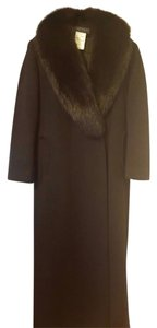 Harvé Benard Long Fur Collar Fur Coat