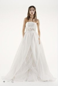 White By Vera Wang Vw351178 Vera Wang White By Vera Wang Wedding Ballgown Ball Gown Ivory Organza Light Comfortable Wedding Dress