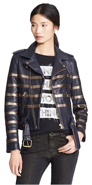 Preload https://img-static.tradesy.com/item/12478096/each-x-other-navy-gold-new-tags-striped-leather-moto-biker-coat-jacket-size-2-xs-0-6-650-650.jpg