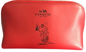 Coach limited edition coach snoopy cosmetic bag