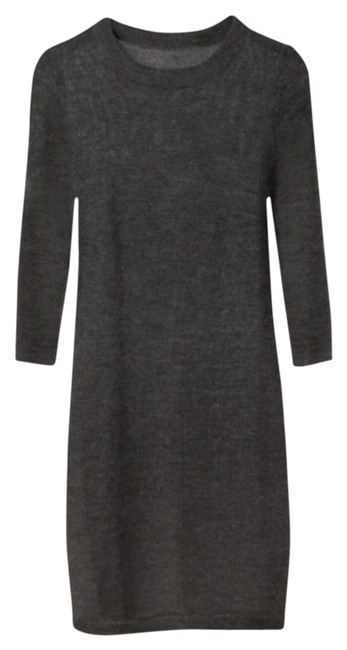 Item - Charcoal Baby Alpaca Sweater Above Knee Work/Office Dress Size 4 (S)