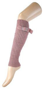 Other Pink Cute Belt Buckle Accent Knitted Leg Warmer Boot Socks