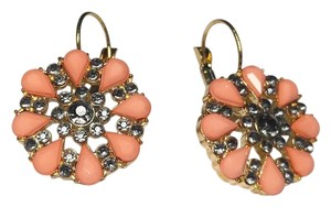 Cato New Cato Pink Flower French Hook Earrings Long Large J2141