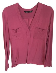 Zara Button Down Shirt Pink