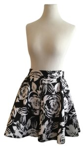 Aqua Mini Skirt Black and White