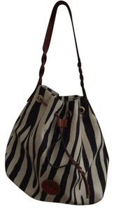 Dooney & Bourke Leather Canvas Hobo Bag