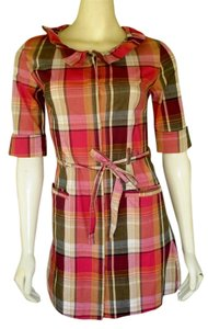 Anthropologie short dress Red Plaid Mini Shirt on Tradesy