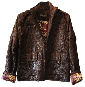 Baxis & Baxis Bomber Snakeskin Faux Faux Leather Satin Lining Fully Lined Motorcycle Jacket