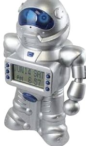 Motion & Money Activated Robot Bank / Alarm Clock by Excalibur [ TommiesCloset ]