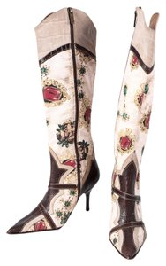 Just Cavalli Leather Brown Boots