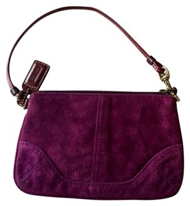 Coach Wristlet in Plum