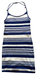 H&M short dress Navy& ivory on Tradesy