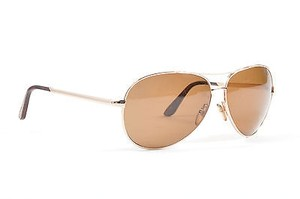 Tom Ford Tom Ford Brown Gold Tone Aviator Charles Sunglasses