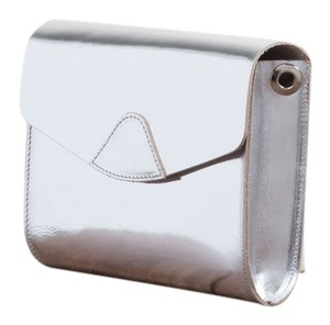 Vere Verto Convertible Crossbody Hippack Commuter Silver Clutch