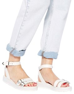 Shellys London Flatform White Sandals