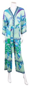 Emilio Pucci Emilio Pucci Printed Sheer Top & Pants