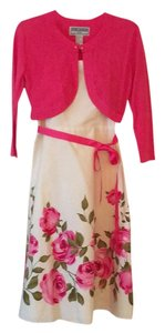 Jessica Howard short dress Muti- white with pink roses on Tradesy