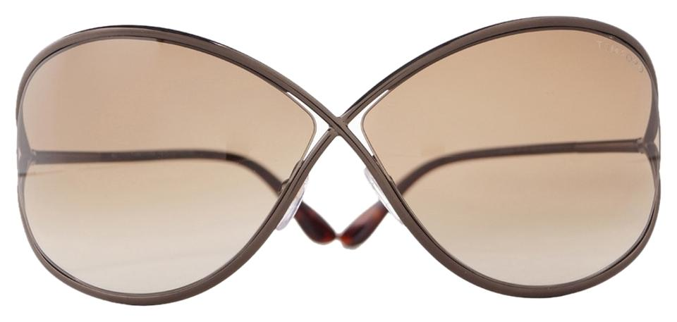 6727662dbc Tom Ford Brown Miranda 36f Shiny Bronze Metal Tf130 Sunglasses - Tradesy