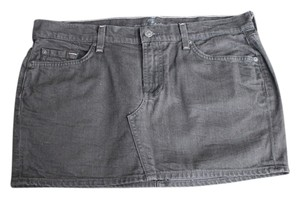 7 For All Mankind Denim Mini Mini Skirt Black