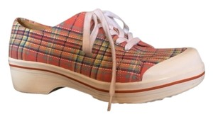 Dansko Multi plaid Flats