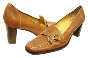Coach Leather Loafers Penny Loafers Brown Pumps