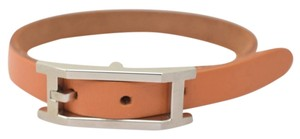 Hermès Authentic Hermes Bracelet Brown X Silver Box