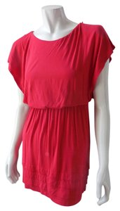 Lush short dress Red Cover Up Mini Stretchy 8088 on Tradesy