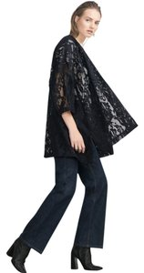 Zara Embroidered Dark Navy Blue Blazer