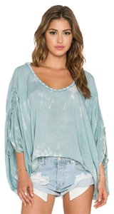 Tiare Hawaii Beachy Artsy Hand Crafted Gypsy Festival Blousey Tunic