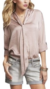 Express Oversized Tie Neck Top Mauve