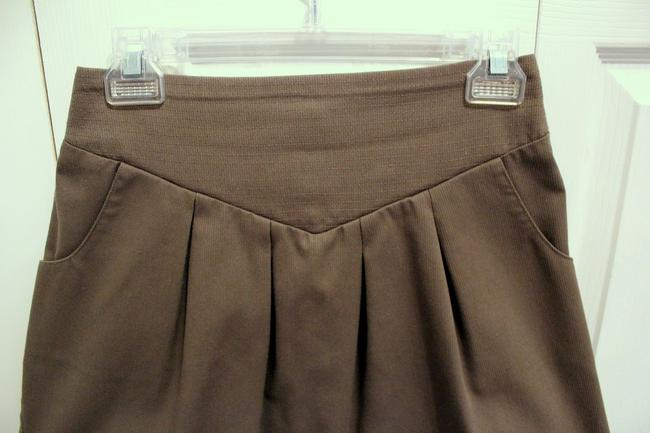 Geren Ford Smocked Back Mini Skirt Gray