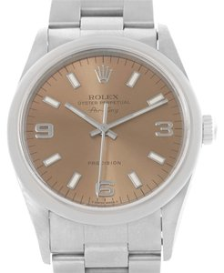 Rolex Rolex Oyster Perpetual Air King Salmon Dial Steel Watch 14000