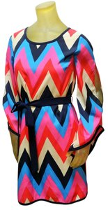 C. Luce short dress Multi Chevron Print on Tradesy