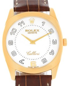 Rolex Rolex Cellini Danaos 18k Yellow Gold White Dial Watch 4233 Box