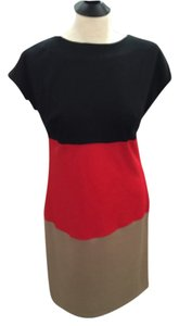 Valerie Bertinelli Ponte Knit Colorblock Dress