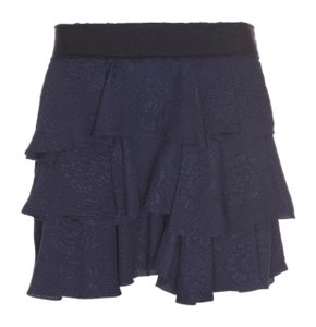 10 Crosby Derek Lam Mini Skirt Navy with black waistband