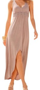 Taupe Maxi Dress by Boston Proper