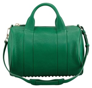 Alexander Wang Rocco Green Studded Satchel in Vine Green