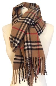 Burberry London Camel Nova Check Lambswool Scarf