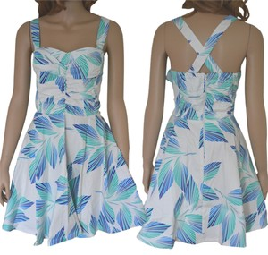 Modcloth short dress Green Blue White on Tradesy