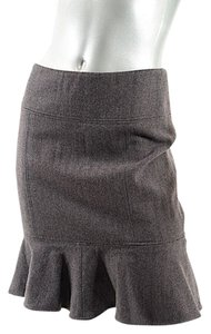 Dolce&Gabbana Dolce Gabbana Skirt Brown & Grey Herringbone