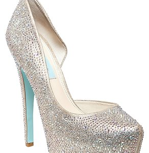 Betsey Johnson Blue By Betsey Platforms Ringstones champagne Pumps