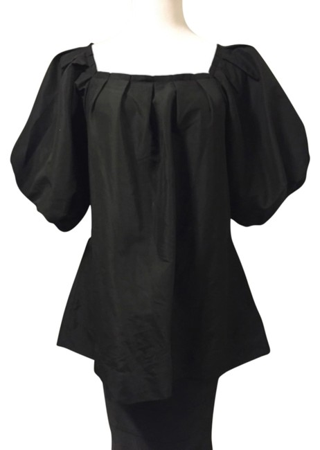 Item - Black Puffy Sleeve Blouse Size 12 (L)