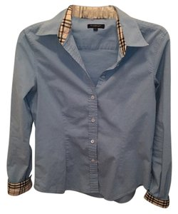 Burberry Clothing Button Down Shirt Blue