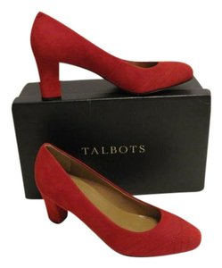 Talbots Suede Red Pumps